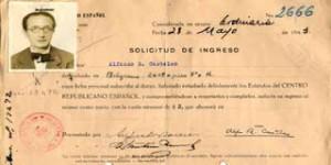 FUENTE: Ficha de ingreso al Centro Republicano Español de Buenos Aires, 1943. (Patronato de la Cultura Gallega)