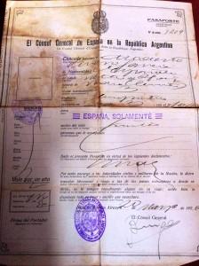 FUENTE PROPIA: Pasaporte del año 1926 para viajar a Argentina