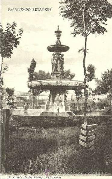 Fuente de las Cuatro Estaciones, El Pasatiempo, Betanzos. Colección de postales. http://parquepasatiempo.blogspot.com.es/