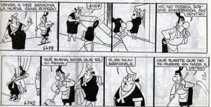 """Fuente Imagen: Tira cómica """"Ramona"""" colección Lino Palacio"""