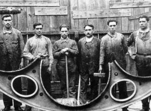 obreros de Lavadores de la Vulcano