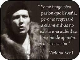 Victoria Kent vivió exiiada años y no regresó hasta el 1977 con la vuelta de la democracia.